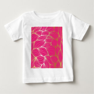 Beautiful,hot pink,faux gold,leaf,pattern,trendy baby T-Shirt