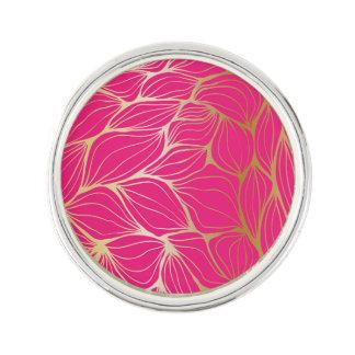 Beautiful,hot pink,faux gold,leaf,pattern,trendy,m lapel pin