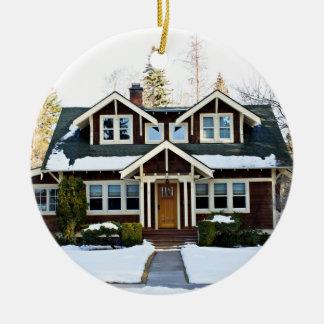 Beautiful House Ceramic Ornament
