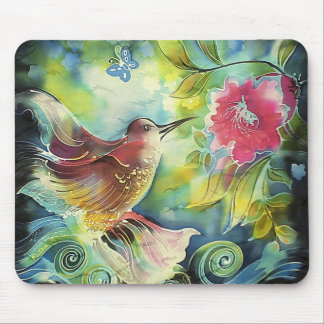 Beautiful Hummingbird Mouse Pad