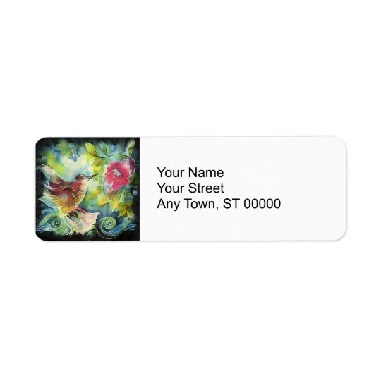 Beautiful Hummingbird Return Address Label