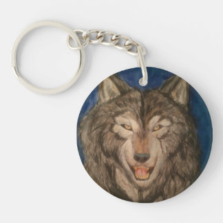 beautiful hunter Single-Sided round acrylic key ring