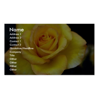 Beautiful Hybrid Tea Rose Business Card Templates