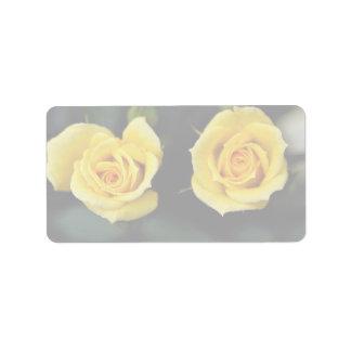 Beautiful Hybrid Tea Rose 'Oregold' Address Label