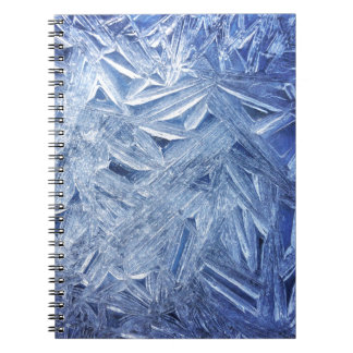 Beautiful Ice Crystals Close-up Spiral Note Book