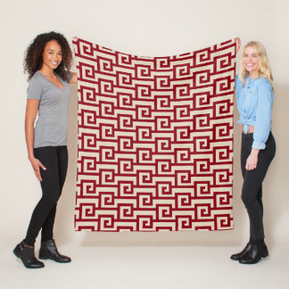 Beautiful Inka Geometric Pattern Fleece Blanket