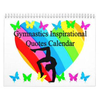 BEAUTIFUL INSPIRATIONAL QUOTES GYMNAST CALENDAR