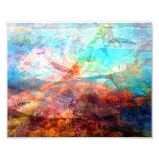 Beautiful Inspiring Underwater Scene Art Photo Art