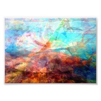 Beautiful Inspiring Underwater Scene Art Photographic Print