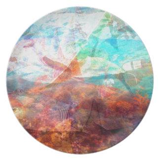 Beautiful Inspiring Underwater Scene Art Plate