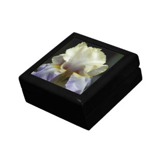 Beautiful Iris Floral Small Square Gift Box