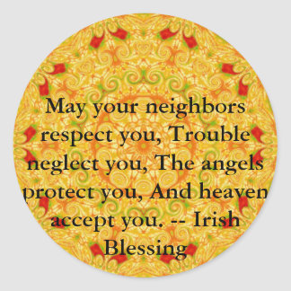 Beautiful Irish Blessing - IRELAND Sticker
