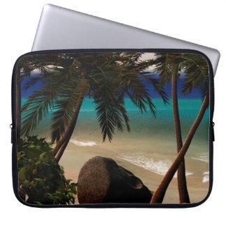 Beautiful island laptop computer sleeves