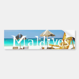 Beautiful Island of Maldives - Bumper Sicker Bumper Sticker