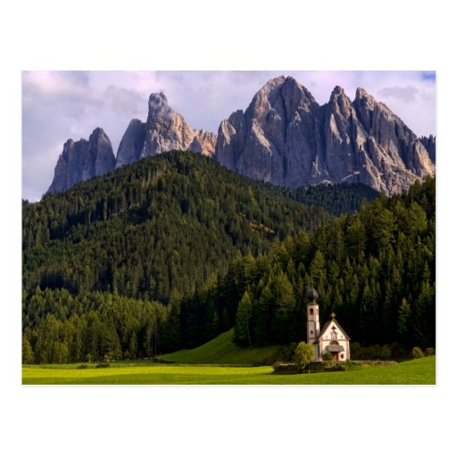 Beautiful isolated lonely church called Rainui 2 Postcards