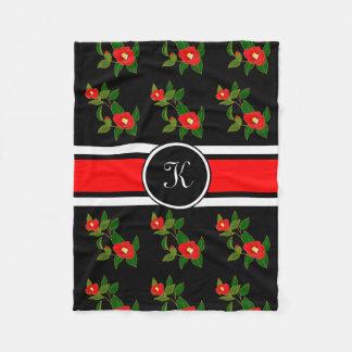 Beautiful Japanese Flowers Fleece Blanket