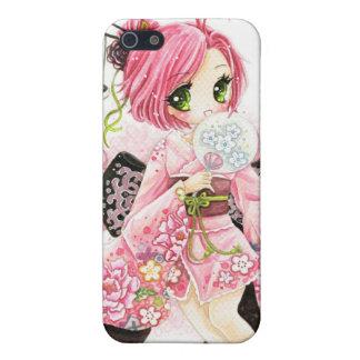 Beautiful Japanese girl in Kimono iPhone 5/5S Case