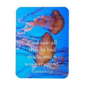 Beautiful Jellyfish Bible Verse Magnet