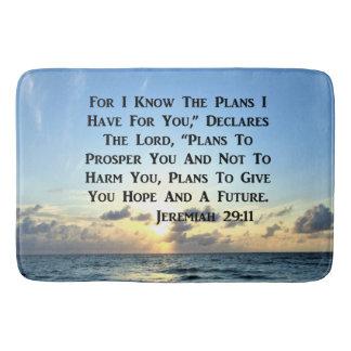 BEAUTIFUL JEREMIAH 29:11 SCRIPTURE VERSE BATH MAT