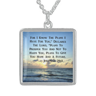 BEAUTIFUL JEREMIAH 29:11 SCRIPTURE VERSE STERLING SILVER NECKLACE