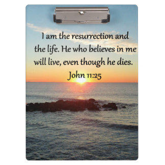 BEAUTIFUL JOHN 11:25 SUNRISE PHOTO CLIPBOARDS