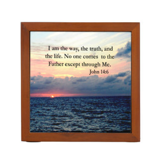 BEAUTIFUL JOHN 14:6 PHOTO DESIGN DESK ORGANISER