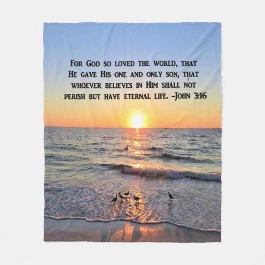 BEAUTIFUL JOHN 3:16 FLEECE BLANKET