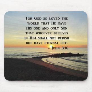 BEAUTIFUL JOHN 3:16 SCRIPTURE SUNRISE PHOTO MOUSE PAD