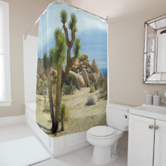 Beautiful, Joshua Tree, Desert Landscape Shower Curtain