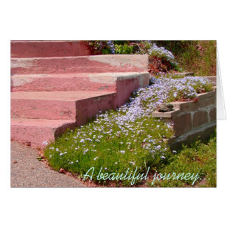 Beautiful Journey Begins with a Single Step - note Card