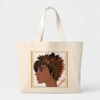 Beautiful Jumbo Tote Bag with Woman