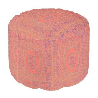 Beautiful Kilim Pattern Round Pouf