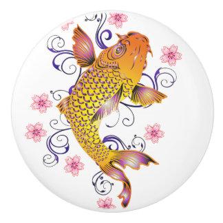 Beautiful Koi Ceramic Knob