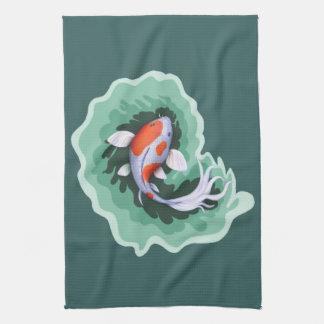 Beautiful Koi Fish Tea Towel