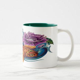 Beautiful koi two toned coffee cup mug