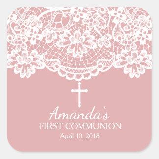 Beautiful Lace First Holy Communion Sticker