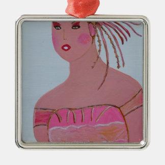 Beautiful Lady 3.JPG Metal Ornament