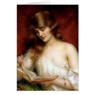 beautiful lady, albert lynch,belle époque painting card