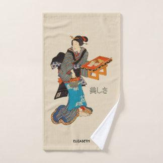 Beautiful Lady Japanese Print 1 Utagawa Kunisada Bath Towel Set