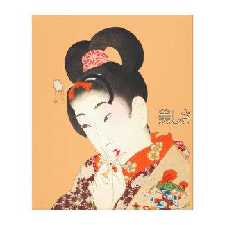 Beautiful Lady Japanese Print 4 Toyohara Chikanobu