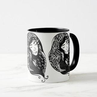 Beautiful Lady of Many Scarves Mug