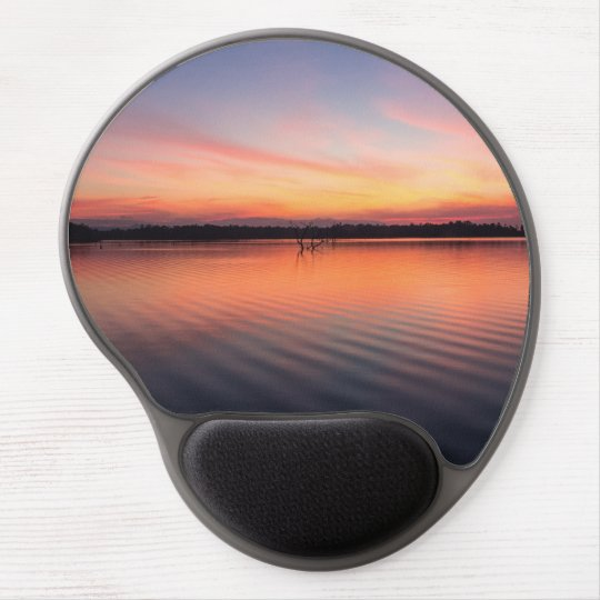 Beautiful lake at summer sunset time gel mouse pad