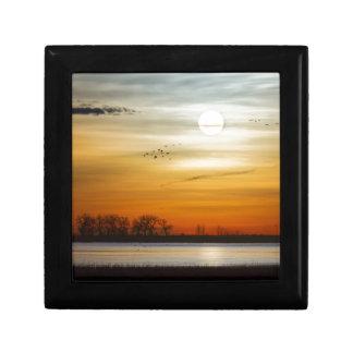 Beautiful Lake Morning Small Square Gift Box