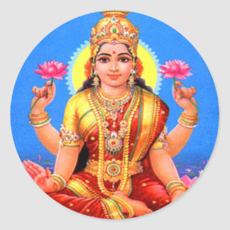 Beautiful Lakshmi Classic Round Sticker