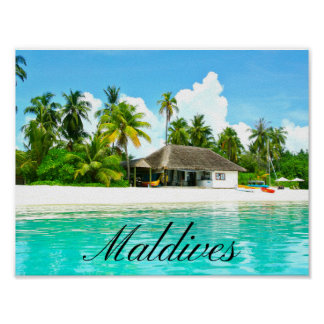 Beautiful Landscape Of Maldives Poster