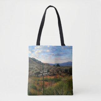 Beautiful Landscape Road Less Traveled Tote Bag