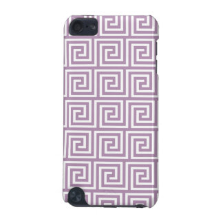 Beautiful Lavender and White Greek Key Pattern iPod Touch 5G Cases