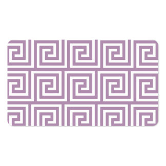 Beautiful Lavender and White Greek Key Pattern Pack Of Standard Business Cards