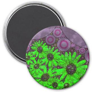 Beautiful Lavender Florescent Sunflowers 7.5 Cm Round Magnet