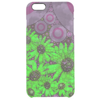 Beautiful Lavender Florescent Sunflowers Clear iPhone 6 Plus Case